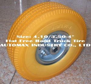 """4.10/3.50-4 """"平らなフリーハンドのトラックのタイヤ"""