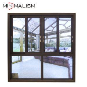 Proveedor de China con ventana deslizante Top-Grade salto térmico templado la pintura de aluminio de doble cristal de ventana deslizante