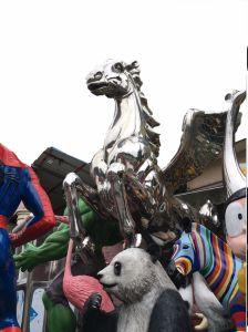 Flying Horse, la escultura al aire libre grandes decisiones y la decoración de interiores decoración de metal, las artesanías Arte, puede ser personalizado para hacer escultura