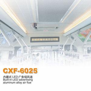 Bus de la publicité à LED intégré de l'air en alliage aluminium conduit d'évent de climatisation (CXF-6025)