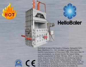 Semi-auto hidráulico manual de los desechos de papel cartón El cartón de la empacadora vertical