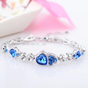 bracelet Crystal Heart Bracelet 우아한 숙녀의 보석