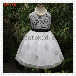 dea158257e34 Vestito da promenade del fiore del ricamo di Tulle del taffettà per le  ragazze