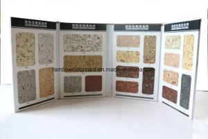 質の表面のペンキカラーカタログが付いている実質の石