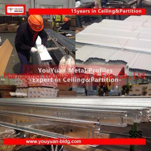 Aço galvanizado Fut/Televisão Branco barra em T de metal em suspensão no teto de PVC Grade T /Fibra mineral de Gesso Forro/sistema de painel