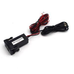 12V 5V 2.1A PORTA USB Celular MP3 e Carregador de entrada de áudio para a Toyota Lexus Scion