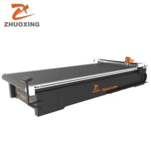precio de fábrica China CNC Dual-Head automático de fieltro, tela, cuero, telas, prendas de vestir, textiles, no hay máquina de corte láser