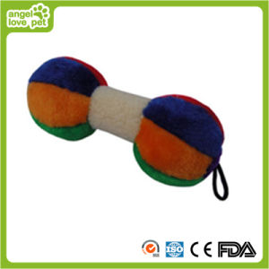 Haustier-Hundeplüschbuntes Dumbbells-Spielzeug
