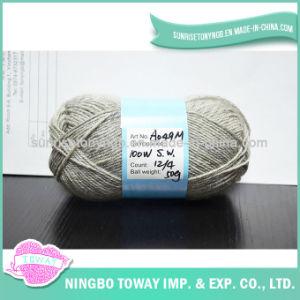 Teñido de alta calidad suéter tejido hilado de lana pura
