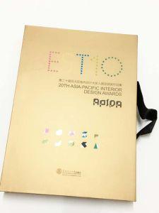Diseño personalizado de tapa dura libro impreso con cinta de seda
