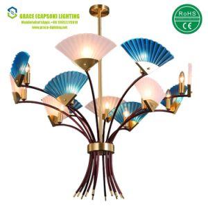Glas Oder Belüftung Faltender Ventilator Hängende Lampen Stab Hotel Leuchter  (GD 7435 12)