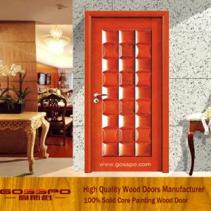 Modèles en bois de porte de chambre à coucher de noix solide de ...