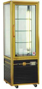 Buena apariencia rotativo vertical expositor refrigerado para tartas (HK-CS-418fa)