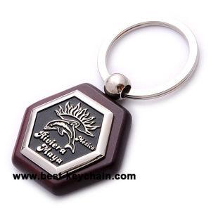 특별한 나무로 되는 승진 기념품 주문 멕시코 열쇠 고리 사슬 (BK53142)