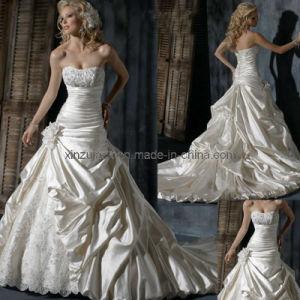Strapless Toga van het Huwelijk van Parels (xz792)