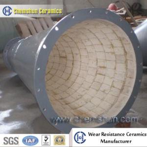 Haltbares Alumina Ceramic Lined Composite Steel Pipe für Bulk Solids Handling