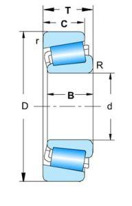 Single-Row дюймовых конический роликовый подшипник - 2
