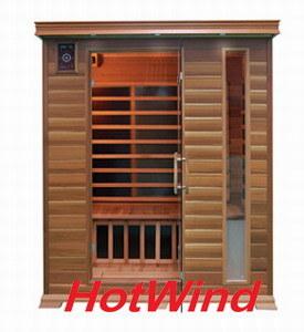 Hasta 2016 Sauna Infrarrojo portátil Sauna de madera para 3 personas (SEK-D3).