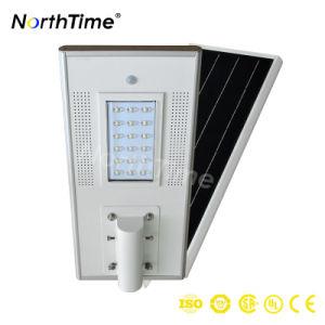 18W teléfono aplicación controlada de LED inteligente de la calle la luz solar