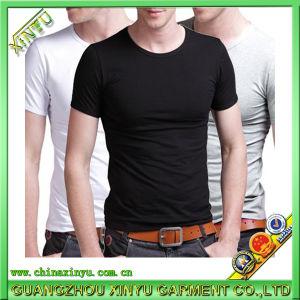 광저우 도매 남자 면 공백 t-셔츠 제조자 Hotsale 공장