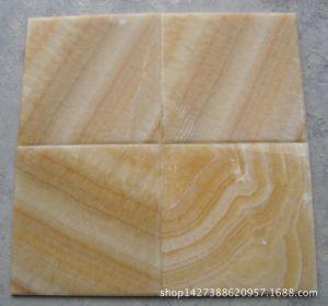طبيعيّ أصفر عسل عقيق أرضية رخام لوح لأنّ جدار خلفيّة
