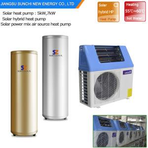 グループのDhw 60cの高性能は80%電気Cop5.32 Tankless 5kw、7kwの9kw小さいヒートポンプのボイラー給湯装置の太陽エネルギーを保存する