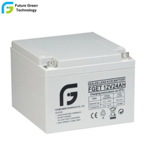 12V 24AH герметичные свинцово-кислотные батареи ИБП для защиты сигналов тревоги