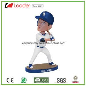 Joueur de baseball Polyresin populaire Bobblehead Doll Figurines statue pour la décoration d'accueil, faites votre propre Bobble Head