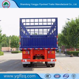 3 de Container van de as/Semi Aanhangwagen van het Vervoer van de Lading stortgoed de Multifunctionele met Hoge Zijgevel