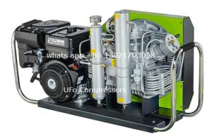 Motor de gasolina gasolina de 300 bar Buceo Portable compresor de aire respirable