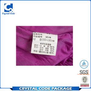 Lavado suave lavable Etiqueta de cuidado de la etiqueta para las prendas de vestir