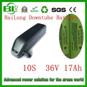 電気バイクの中国の在庫の2A充電器が付いているセルのためPanasonicの新しいDowntube電池のパックのための大きいEバイクのAkku Hailong電池36V 17ahのリチウム電池