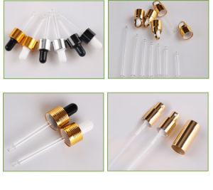 Pulverizador de vidrio color ámbar Negro/Dorado rocío fino aceite esencial de 50ml Pulverizador de perfume químico envase atomizador