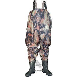 PVC防水Workwearの胸当てのズボン