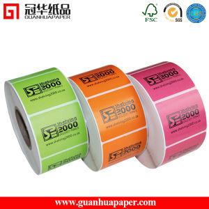 precio de fábrica adhesiva de embalaje Gastos de envío impreso en color de la etiqueta térmica directa