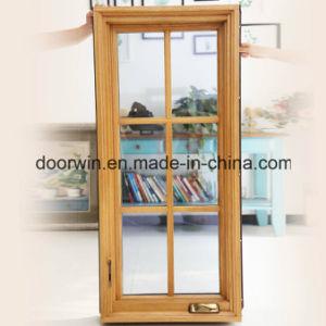 이탈리아 Chiari Client Aluminum Clad Solid Oak Wood Casement Window, Beautiful Grilles를 가진 Wood Aluminum Window