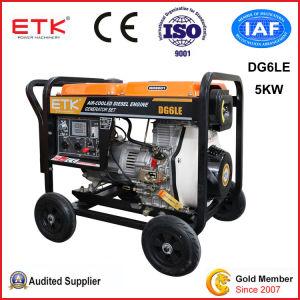 5kw de verbeterde Diesel van de Veiligheid Lucht Gekoelde Reeks van de Generator