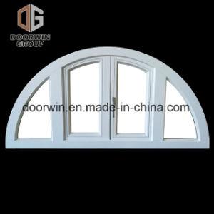 Janela de madeira de carvalho branco com vidro