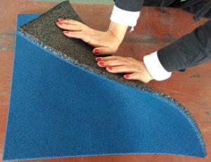 Reciclar o mosaico de borracha, piso de borracha, Ginásio Lado a Lado a Lado de borracha