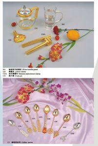 Номера делюкс золотые и серебряные посуда для торжественных мероприятий (XWF Hotal2730)