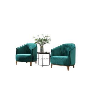 居間の家具のための緑ファブリック椅子