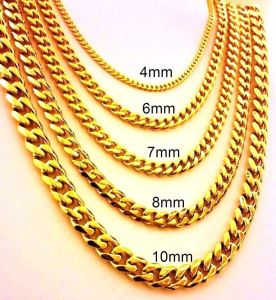 14, 18, o 24k Gold Plated Chain