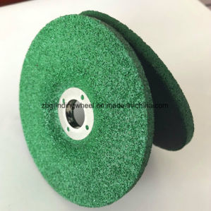 Disco di molatura concentrare depresso di colore verde