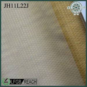 Tejido de malla de nylon de Jacquard de oro para las bolsas