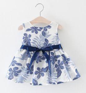 L'usure d'enfants de haute qualité pour les filles de robe de rubans imprimés