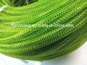 8mm verde manzana Deco tubo flexible de malla