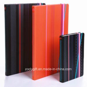 Качество изображения A6/A5 печатается PU обложки из кожи ноутбук с повестки дня эластичную ленту передней крышки блока цилиндров