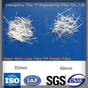 Fibra bruta de polipropileno (Plástico) Fibras de aço para betão ou argamassa de cimento