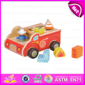 2015 capretti Wooden Mini Car Toy con Blocks, Multifunctional Children Wooden Car Toy, Cartoon Wooden Car Toy con Baby Blocs W12D023