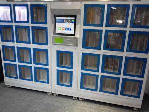 Het slot van de automaat het slot van de archiefkast het slot